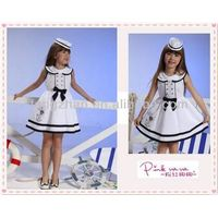 Children school uniforms, girls summer dress