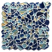 Pebble hand-painted glass tiles thumbnail image