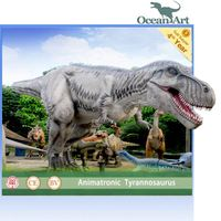 amusement park lifesize realistic animatronic dinosaur