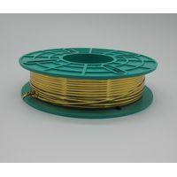 golden PET twist tie/metallic twist ties in spool