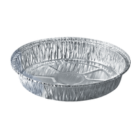 Disposable 14 inch Round Aluminum Foil pan for BBQ thumbnail image