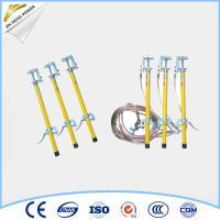 High voltage portable earth rod with earth wire