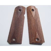 colt 1911 walnut wood grips 012-1