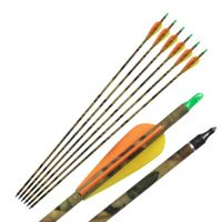31'' Camo Carbon Shaft Arrow Archery for Compound Bow Hunting 500Spine