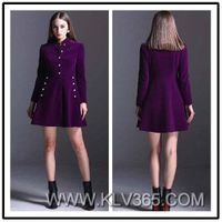 European Fashion Women Winter Coat Dress Wholesale