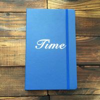 foil stamping logo with silver blue hardcover custom notebooks