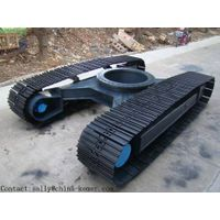 Steel rubber track undercarriage / Crawler undercarriage spare part / rubber steel track chassis fro thumbnail image