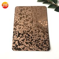 Rose Gold Etched Stainless Steel Decorative Panel