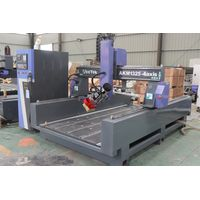 4 axis 13002500mm ATC cnc router swing spindle rotate head 180 degree mobile linear tool changer