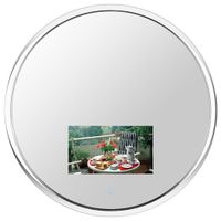 Round Chrome Finish Vanishing Television Mirror (Waterproof)
