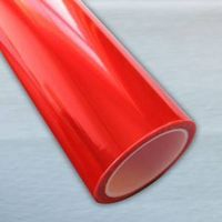 red headlight protection film