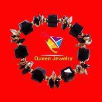 dutch destroyer bracelet Braided Rope shiny crystal all-match bangle