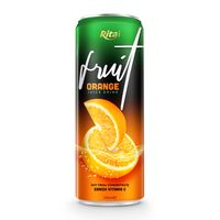 Natural Fruit Juice Brands Orange Juice Drink in can 330ml | private label juice manufacturers