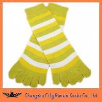 wommens sports comfy strip five toe  five finger socks