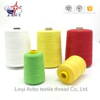 Polyester bag closing thread