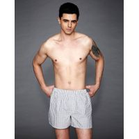 cotton boxer with button fly open