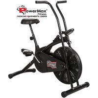 Powermax Fitness BU-203 Air Bike with Fixed Handles - Exercise Cycle for Weight Loss, Cardio Workout thumbnail image