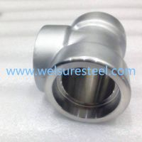 Supply Duplex Stainless Steel S31500. S31803. S32304. S32205. S32760. S32750 Socket Tee thumbnail image