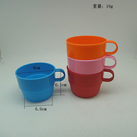 1032 Wholesale custom plastic kids' cup/children's plastic cup with handle