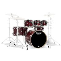 PDP By DW PDCM2217CS 7-Piece Concept Maple Shell Pack with Chrome Hardware, Cherry Stain Lacquer