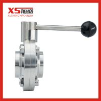 Sanitary Stainless Steel Welding Type Butterfly Valve with Black Ball thumbnail image