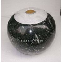 ONYX CREMATION URN, MARBLE ASH URN, FOSSIL STONE ASH CONTAINER