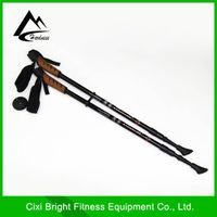 Aluminium Telescopic Alpenstock Walking Stick Antishock Hiking Climbing Stick Trekking Pole