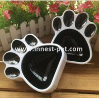 China pet products paw shape pet dog plastic bowl