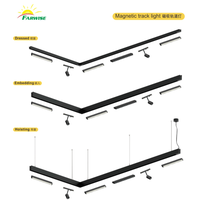 Showroom accessory black housing 20W cob led modern track lighting thumbnail image