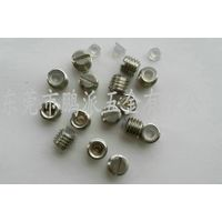 Stainless steel slotted rubber set screws M10*8