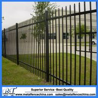 Low Price High Quality ISO9001 Used Wrought Iron Fence,steel fence