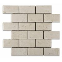 Crema Marfil brick mosaic tile