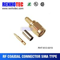 Quickly SMA Straight Male PCB Mount RF Coaxial Connector
