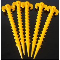 plastic tent peg stake, tent nail Hook Ground Pin Camping accessory fit it outdoor and beach 31.5CM
