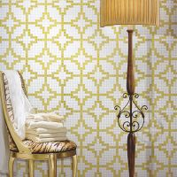 Etoiles Oro Giallo JY-P-E03 Bisazza Tile Golden and White Chinese Ancient Coin Shape Glass Mosaic Pa thumbnail image