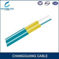 Indoor Armored aramid fiber figure 8 OM1 OM2 OM3 Fiber optic cable price per meter