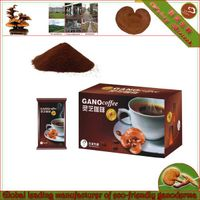 Black coffee with ganoderma extract powder