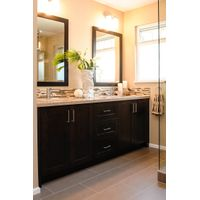 2017 American Style Wooden Cabinet Bathroom Kitchen Double Sinks Countertops