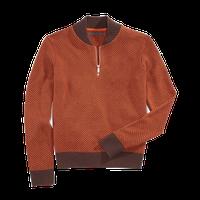 Men's Quarter Zip Cardigan Sweater thumbnail image