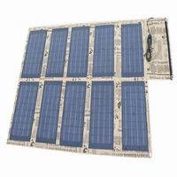 100W Foldable Solar Panel Charger Backpack for Mobile Phone, Laptop, Car Battery