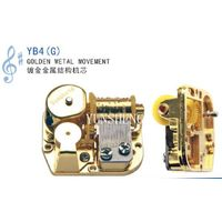 Yunsheng Golden Metal Musical Movement for Music Box Art Craft(YB4G)
