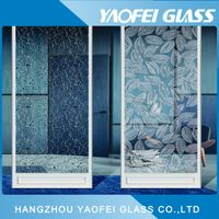 Clear Patterned Acid Etched Decorative Glass/ Art Glass