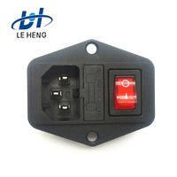 Wenzhou leheng db-14-013c certification two-in-one socket environmental protection word DB power soc