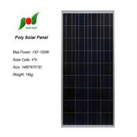135W high efficiency solar panel for solar power systems