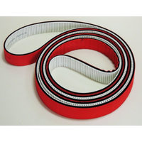 timing belt with red glue