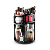 Wholesale black 360 spinning rotating makeup stand organizer cosmetic storage display rack thumbnail image