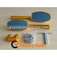 gold CNC motorcycle mirror