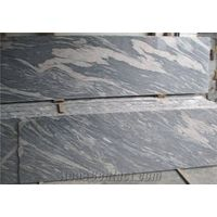 China Juparana Granite Slabs & Tiles, Random Grey Green and Black Color,Light and Dark Mixed Patern