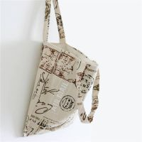 Printed post chapter pattern cotton linen canvas shopping bag shoulder bag cloth bag cotton bag mess
