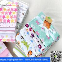 100% cotton printed flannel fabric blanket thumbnail image